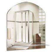"""Зеркало для ванной """"Арка"""" 500*580 с полкой"""