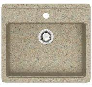Мойка кухонная Marrbaxx 9 врезная мрамор песочный