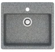 Мойка кухонная Marrbaxx 9 врезная мрамор серый