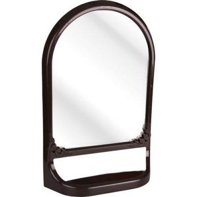 Зеркало с полкой (темно-коричневый) АЛЬТЕРНАТИВА