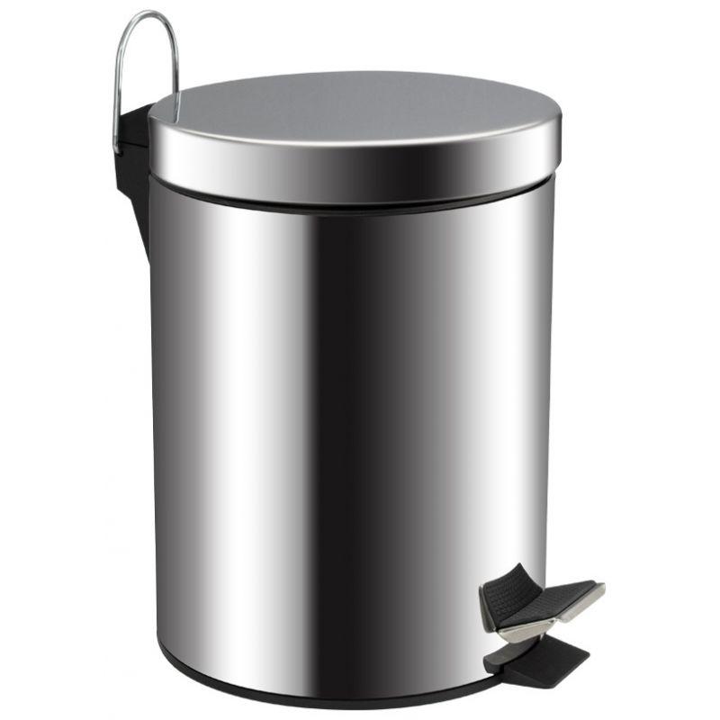 Ведро для мусора хром 5л. 105