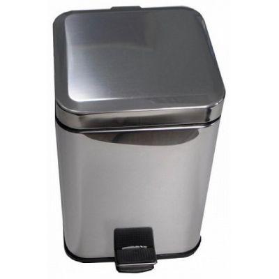 Ведро для мусора хром 3л квадратное 10803