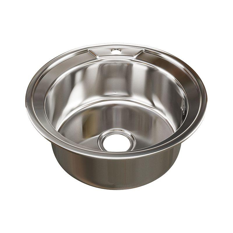 Мойка кухонная Mixline 51 врезная сталь сталь