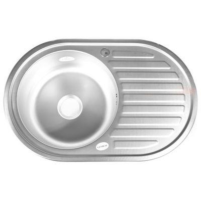 Мойка кухонная Mixline 532304 врезная нержавеющая сталь глянцевый хром