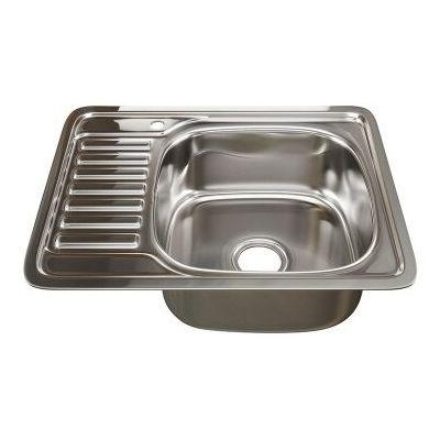 Мойка кухонная Mixline 5065 врезная нержавеющая сталь хром