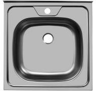 Мойка кухонная Sinklight 5050 накладная нержавеющая сталь темносерый