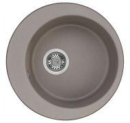 Мойка кухонная AQUATON Иверия врезная искусственный мрамор серый