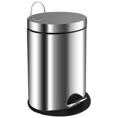 Ведро для мусора хром 5л. 205 овальное
