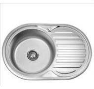 Мойка кухонная Sinklight 7750BL врезная нержавеющая сталь хром