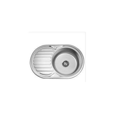 Мойка кухонная Mixline 7750 врезная нержавеющая сталь хром