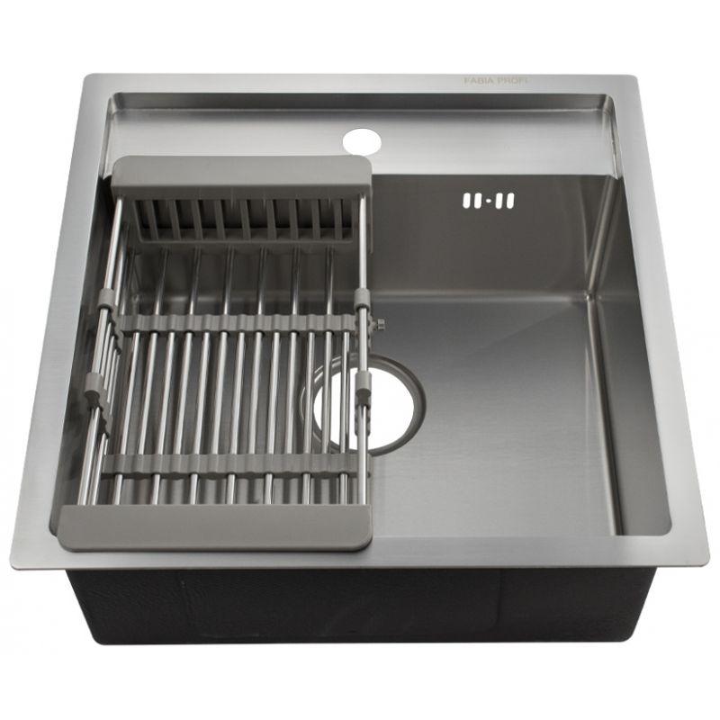 Мойка кухонная FABIA PROFI 50503 врезная нержавеющая сталь хром