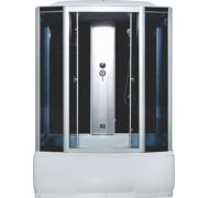 Душевая кабина Водный Мир ВМ-8207 черный 150x85 см