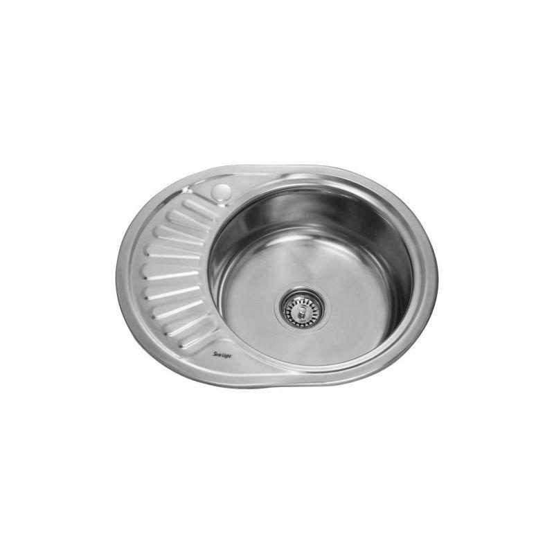 Мойка кухонная Sinklight 5745А врезная нержавеющая сталь хром