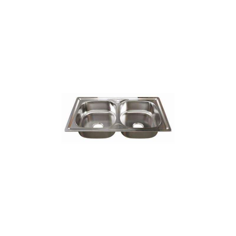 Мойка кухонная Mixline 532312 врезная нержавеющая сталь хром