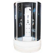 Душевая кабина Водный Мир ВМ-8815 черный 90x90 см