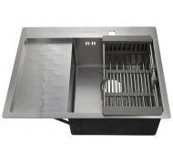 Мойка кухонная FABIA PROFI 63503R врезная нержавеющая сталь хром
