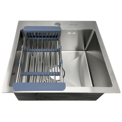 Мойка кухонная FABIA PROFI 485443 врезная нержавеющая сталь хром