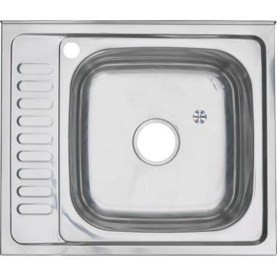 Мойка кухонная MELANA 6050 L накладная нержавеющая сталь хром