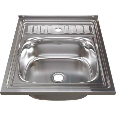 Мойка кухонная Mixline 527966 накладная нержавеющая сталь хром