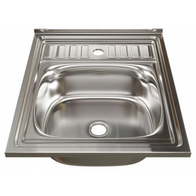 Мойка кухонная Mixline 6050 накладная нержавеющая сталь глянцевый хром