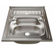 Мойка кухонная Mixline 6050 накладная нержавеющая сталь хром