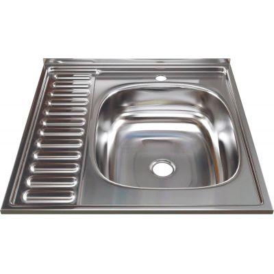 Мойка кухонная Mixline 527969 накладная нержавеющая сталь хром