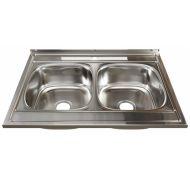Мойка кухонная Sinklight 8060-2 накладная нержавеющая сталь хром