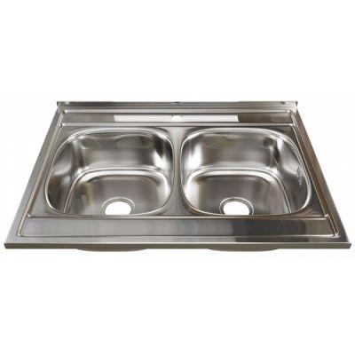 Мойка кухонная Mixline 528171 накладная нержавеющая сталь хром