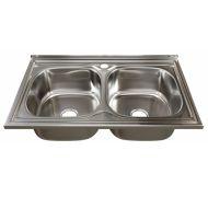 Мойка кухонная Mixline 530528 накладная нержавеющая сталь хром