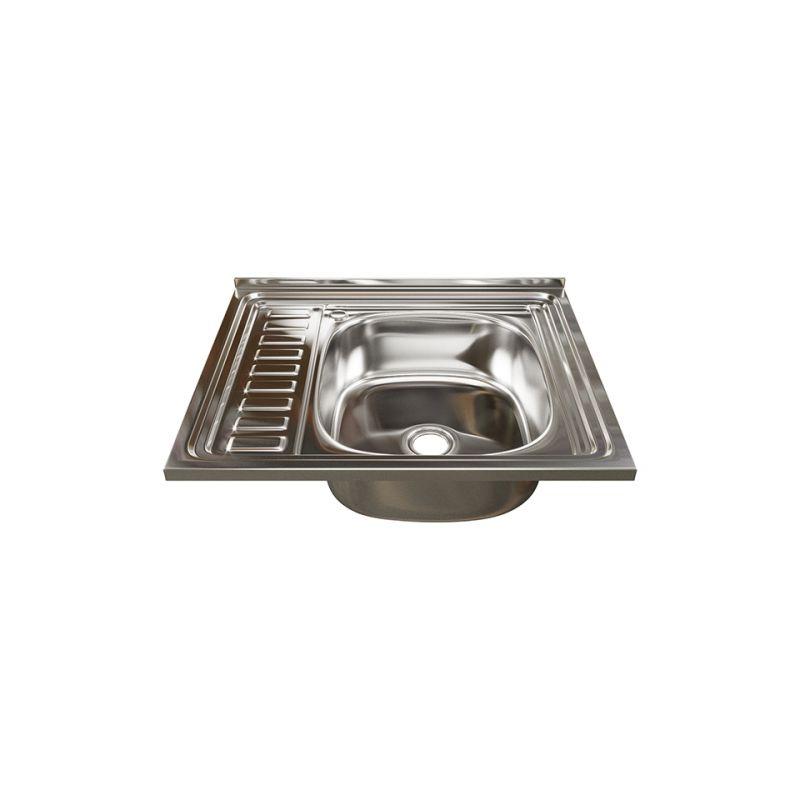 Мойка кухонная Mixline 5060 накладная нержавеющая сталь глянцевый хром
