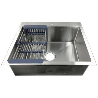 Мойка кухонная FABIA PROFI 60503 врезная нержавеющая сталь глянцевый хром