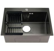 Мойка кухонная FABIA PROFI 60503G врезная нержавеющая сталь графит