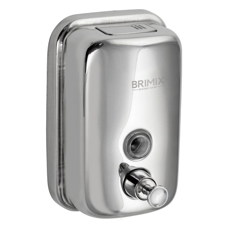 Дозатор для жидкого мыла BRIMIX из нерж. стали -500 мл,  618