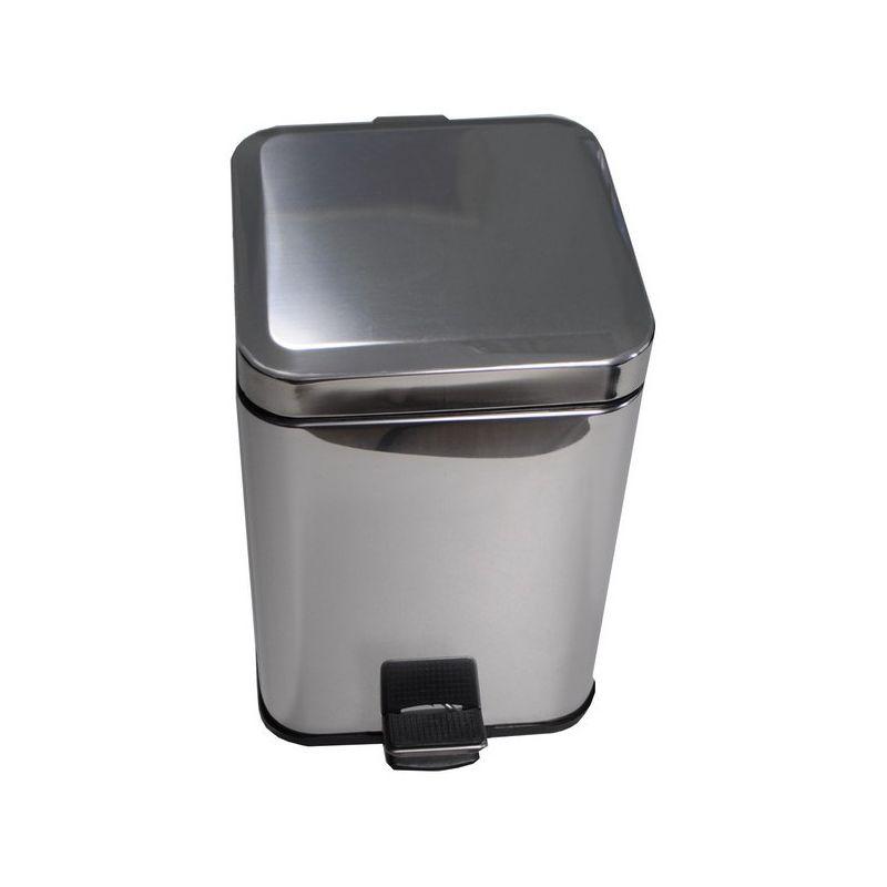 Ведро для мусора хром 12л. квадро. 10812