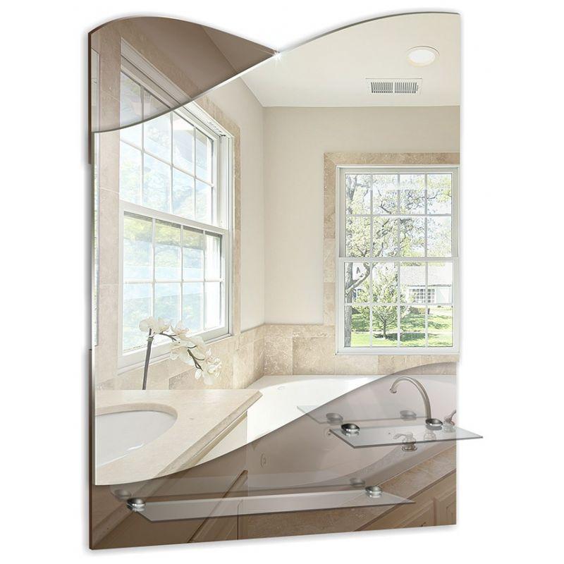 """Зеркало для ванной """"Версаль"""" 495х690 (2 полочки)"""