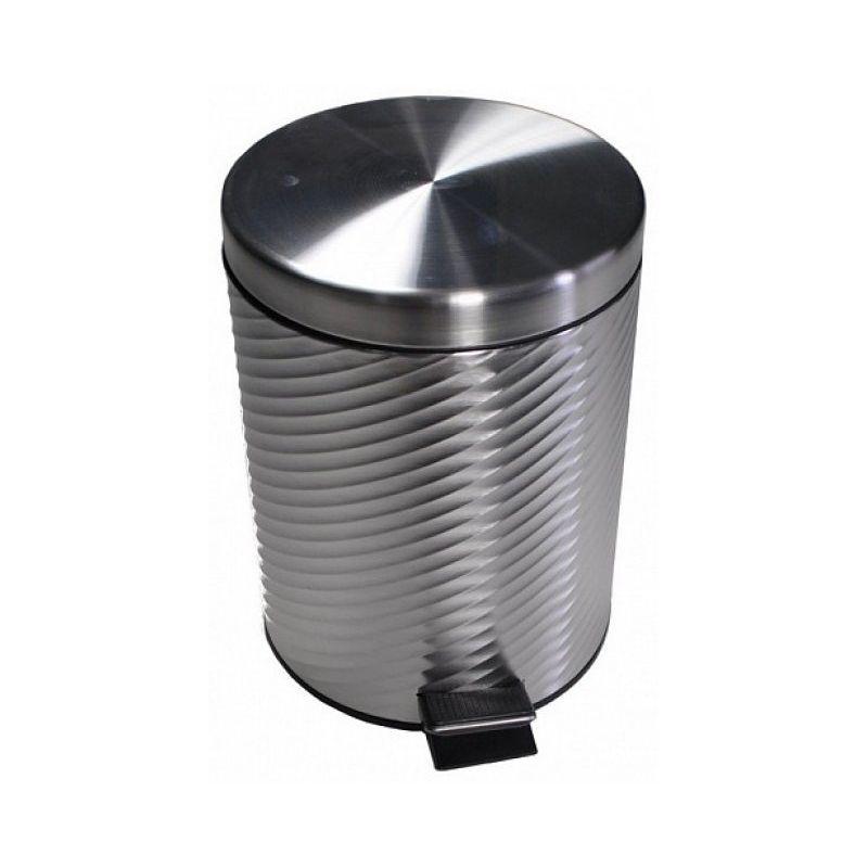 Ведро для мусора хром 12л. винтообразное 7012