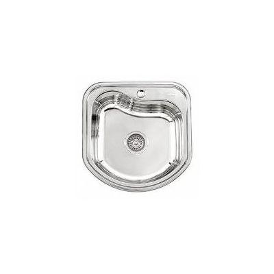 Мойка кухонная Ledeme Декор врезная нержавеющая сталь глянцевый хром