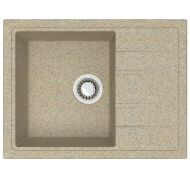 Мойка кухонная Marrbaxx 150 врезная мрамор песочный