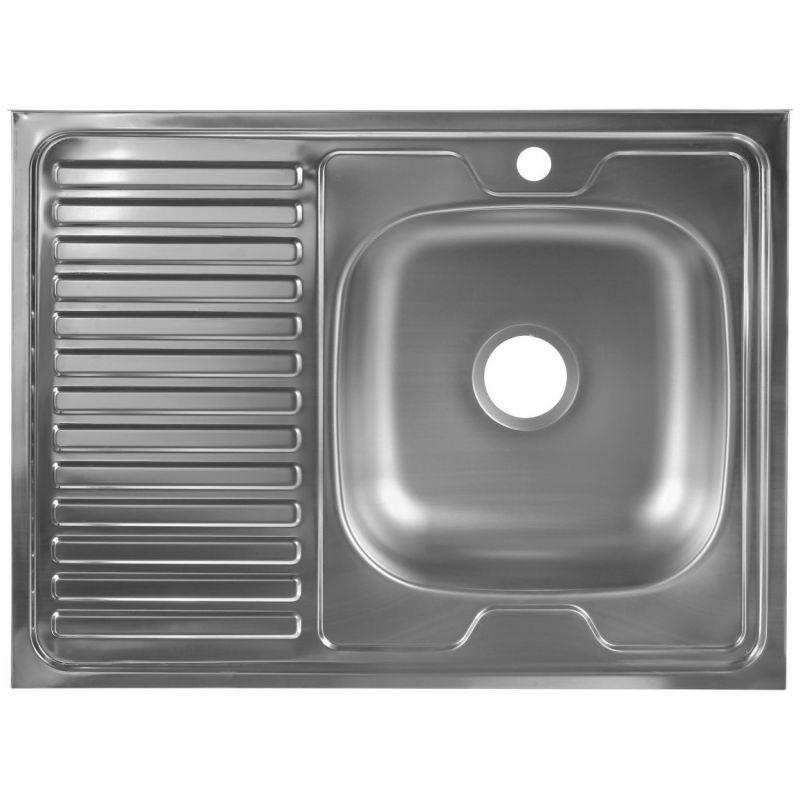 Мойка кухонная Mixline 527971 накладная нержавеющая сталь хром