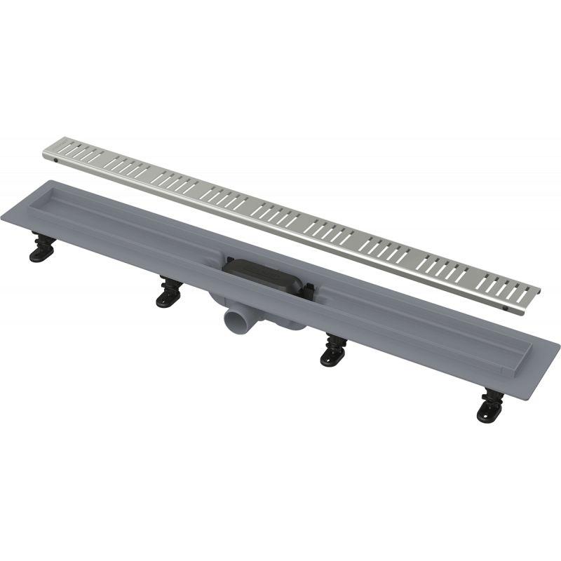 Водоотводящий желоб AlcaPlast Simple НЕРЖ. решетка 750 мм.