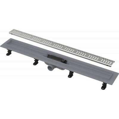 Водоотводящий желоб AlcaPlast Simple НЕРЖ. решетка 650 мм.