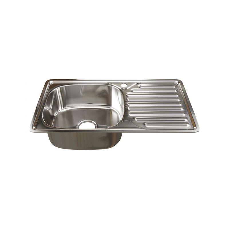 Мойка кухонная Mixline 4276 врезная нержавеющая сталь хром