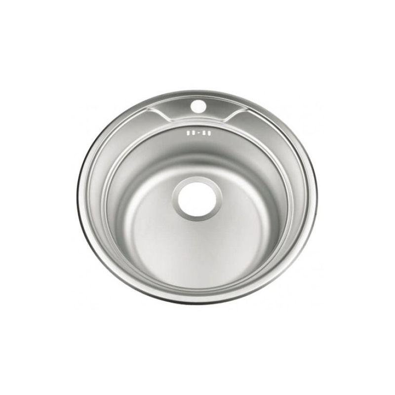 Мойка кухонная Frap FD490 врезная нержавеющая сталь хром