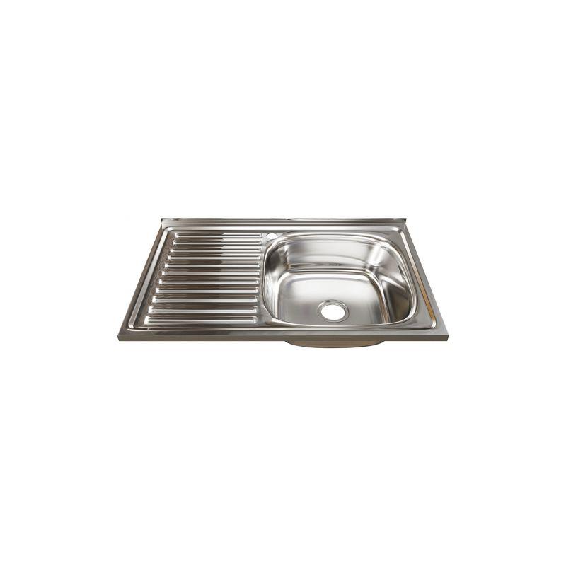 Мойка кухонная Mixline 5080 накладная нержавеющая сталь хром