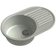 Мойка кухонная GranFest ECO-18 врезная искусственный камень серый
