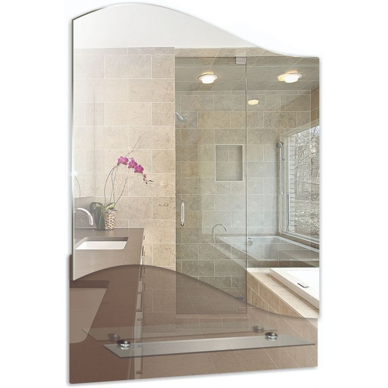 """Зеркало для ванной """"Юпитер"""" с полкой"""