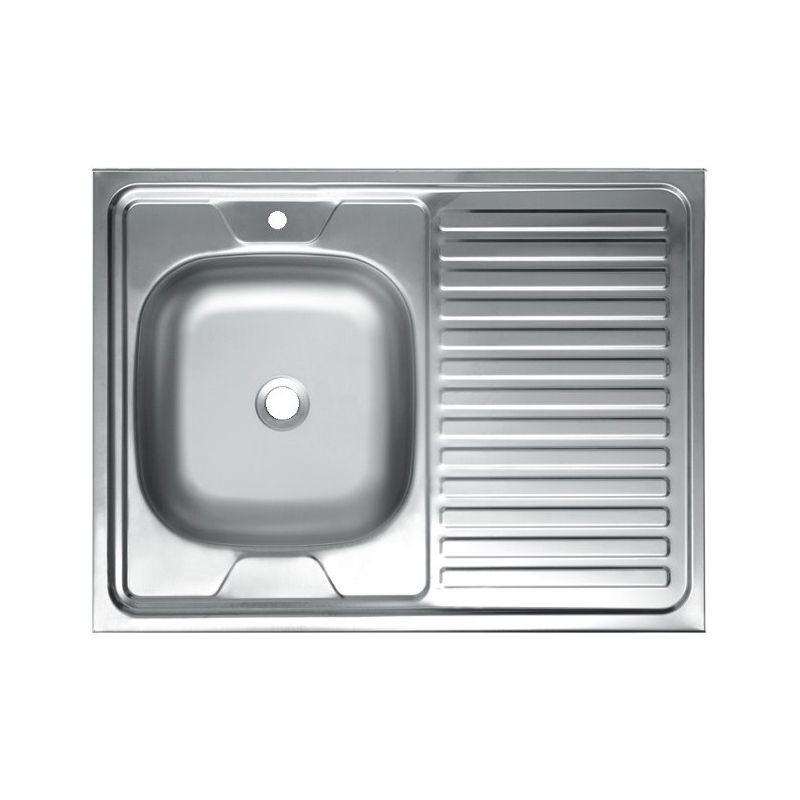 Мойка кухонная Mixline 6080 накладная нержавеющая сталь хром