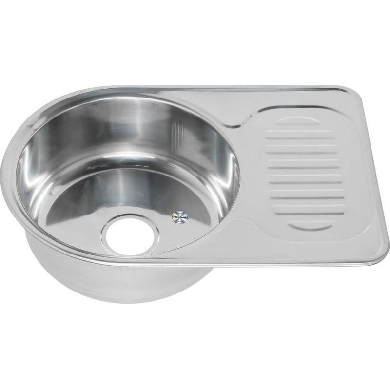 Мойка кухонная MELANA 6745 врезная нержавеющая сталь хром