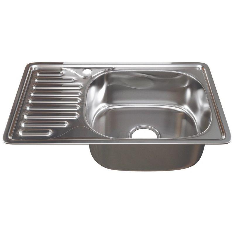 Мойка кухонная Sinklight 6642L врезная нержавеющая сталь хром