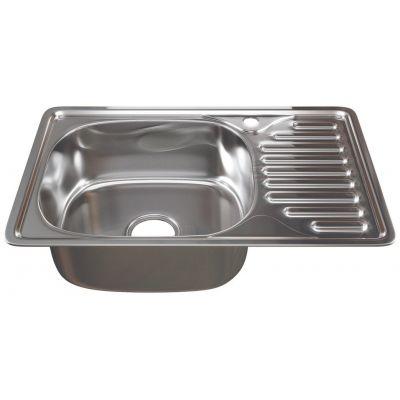 Мойка кухонная Mixline левая врезная нержавеющая сталь хром